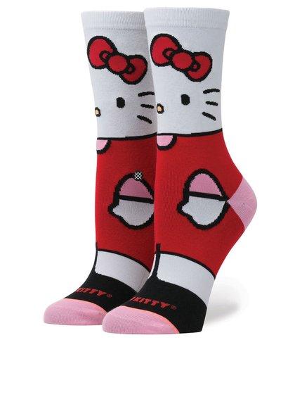 Șosete alb&roșu Stance Hello Kitty