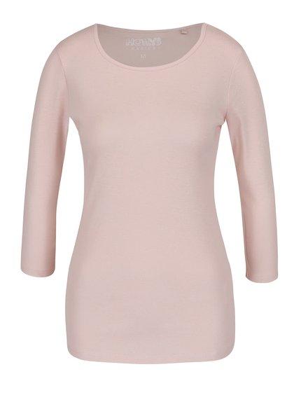 Světle růžové basic tričko s 3/4 rukávy Haily´s Zora