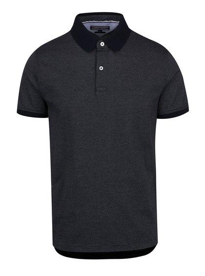Modré pánské vzorované polo triko Tommy Hilfiger