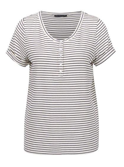 Modro-krémové volné pruhované tričko Pietro Filipi