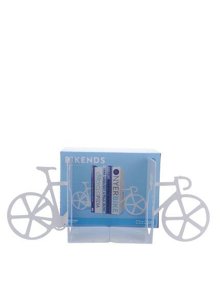 Bílá zarážka na knihy ve tvaru kola Mustard