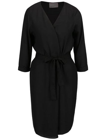 Černý lehký kabát s výšivkou na zádech VERO MODA Elice