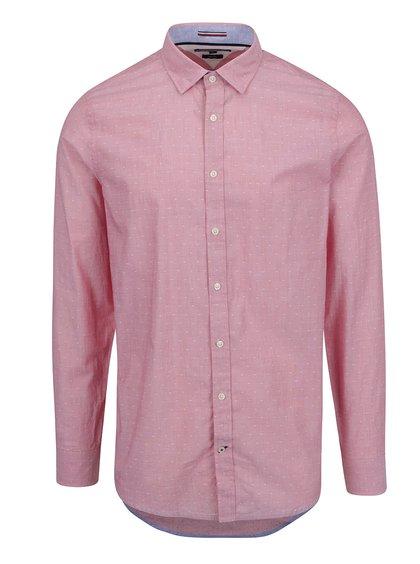 Růžová vzorovaná pánská košile Tommy Hilfiger