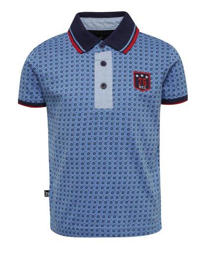 Světle modré chlapecké polo triko Mix´n Match
