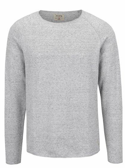 Světle šedé žíhané triko Jack & Jones Union