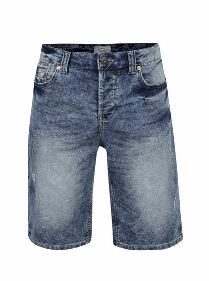 Pantaloni scurți albaștri ONLY & SONS Loom Jog cu aspect prespălat