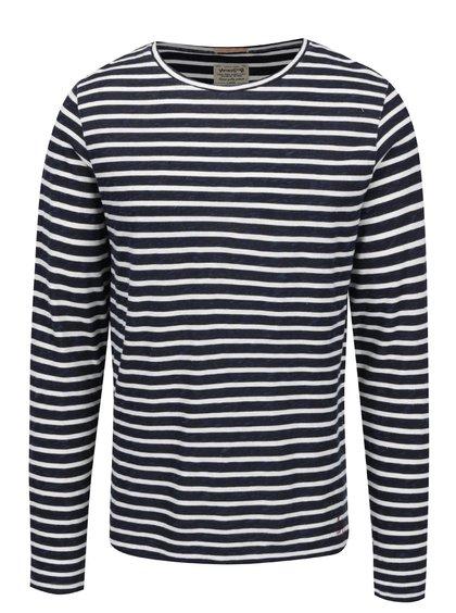 Krémovo-modré pruhované triko Jack & Jones John