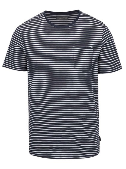 Bílo-modré pruhované triko s kapsou Jack & Jones Berlin