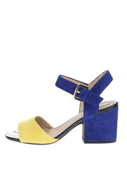 Sandale albastru & galben Geox Marilyse din piele întoarsă
