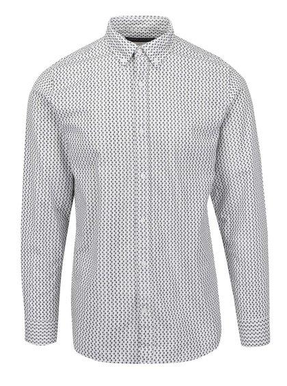 Bílá vzorovaná košile Jack & Jones Naples