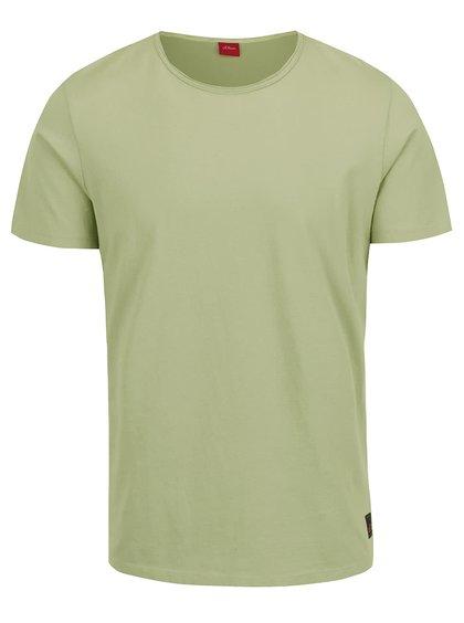 Světle zelené pánské triko s krátkým rukávem s.Oliver