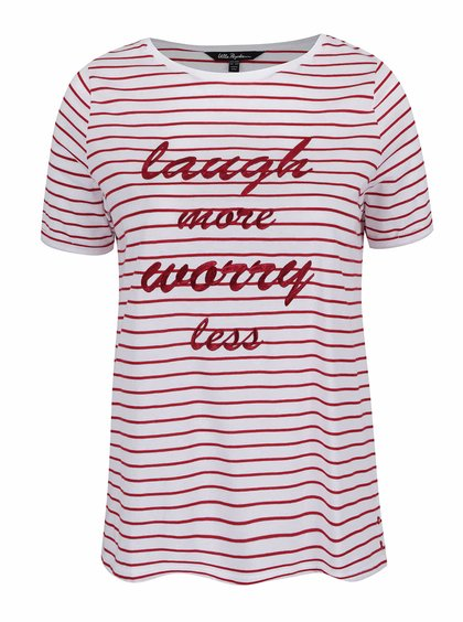 Červeno-bílé pruhované tričko s nápisem Ulla Popken