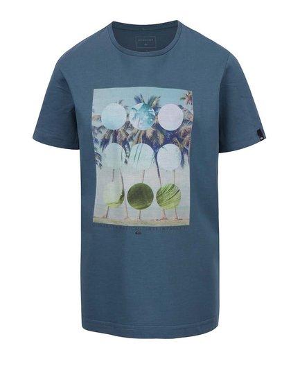 Tricou albastru Quiksilver cu print