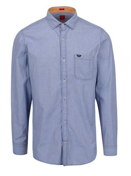 Modrá pánská košile s kapsou s.Oliver