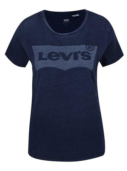 Tmavě modré dámské tričko s potiskem Levi's®