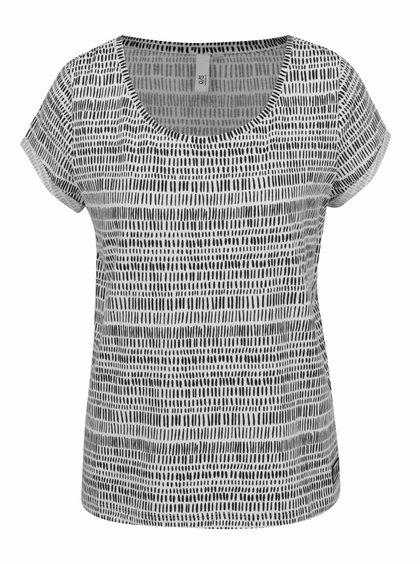 Tricou alb QS by s.Oliver din bumbac cu model