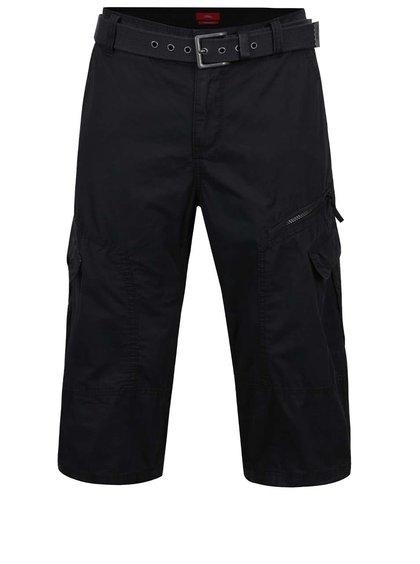 Černé pánské 3/4  kalhoty s.Oliver