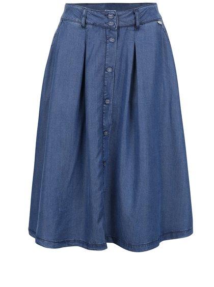 Modrá džínová sukně s knoflíky Rich & Royal