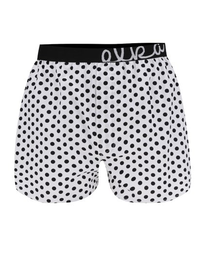Boxeri albi cu buline El.Ka Underwear