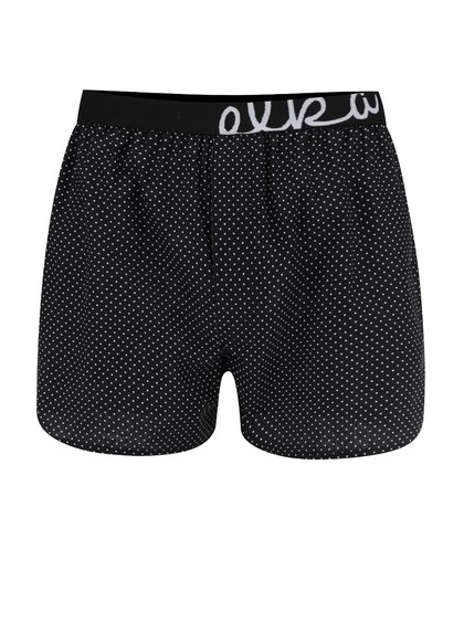 Boxeri negri El.Ka Underwear din bumbac