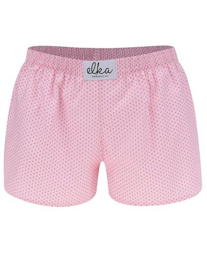 Růžové dámské trenýrky s motivem hvězd El.Ka Underwear