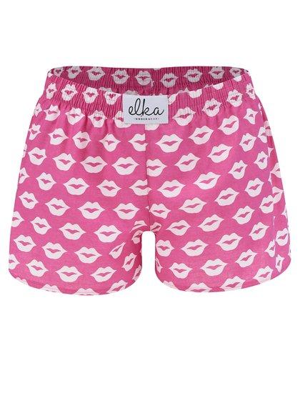 Boxeri roz cu buze El.Ka Underwear de damă