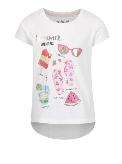 Krémové holčičí tričko s letním motivem 5.10.15.