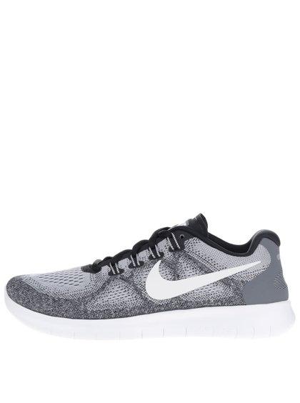 Šedé žíhané pánské tenisky Nike Free RN