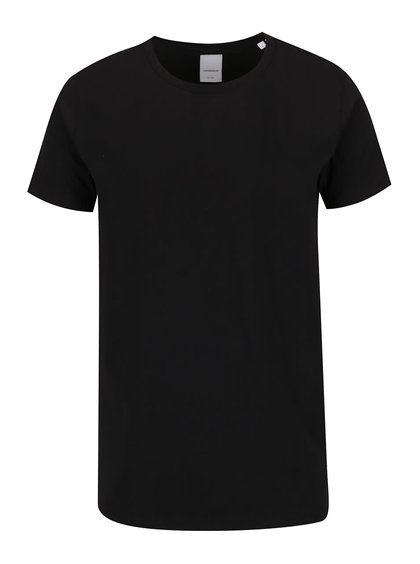 Černé basic triko s krátkým rukávem Lindbergh