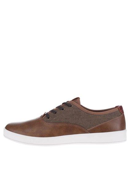 Pantofi maro din piele ALDO Yilan pentru bărbați
