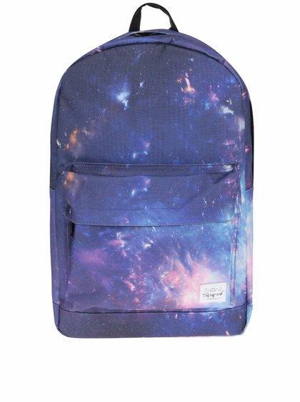 Tmavě modrý dámský batoh s motivem vesmíru Spiral 18 l