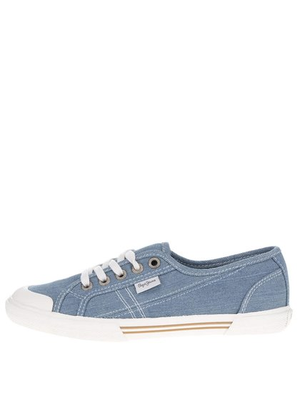 Pantofi sport albaștri Pepe Jeans Abernew din denim