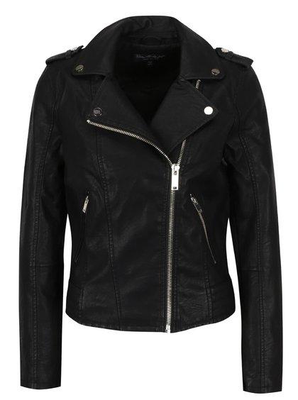 Jachetă neagră Miss Selfridge din piele ecologică