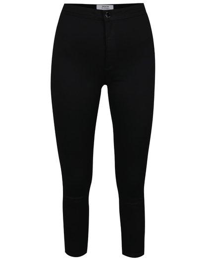Černé zkrácené džíny s vysokým sedem Miss Selfridge
