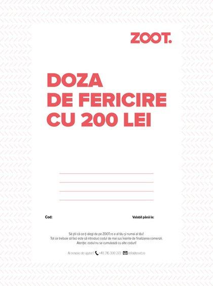 Card cadou electronic în valoare de 200 Lei