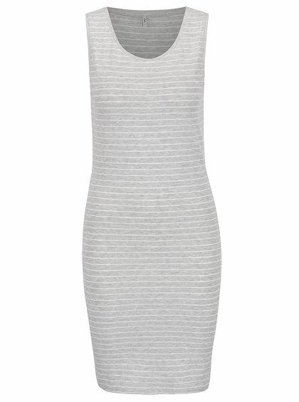 Šedé pruhované šaty bez rukávů ONLY Cornelia