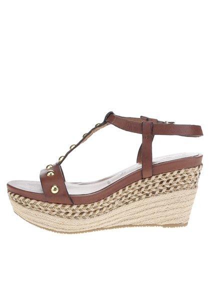 Sandale maro Tamaris din piele