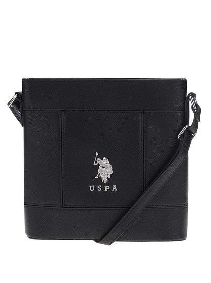 Černá crossbody kabelka U.S. Polo Assn.