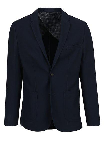 Tmavě modré sako Jack & Jones Premium Reprol
