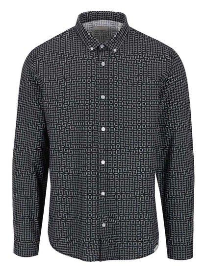 Černá vzorovaná košile Shine Original Oxford