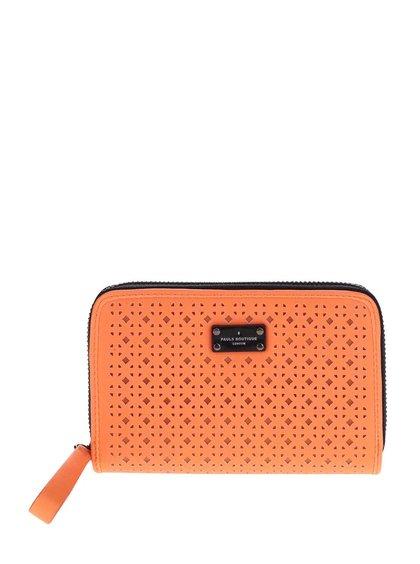 Neonově oranžová peněženka na zip Paul's Boutique Celia