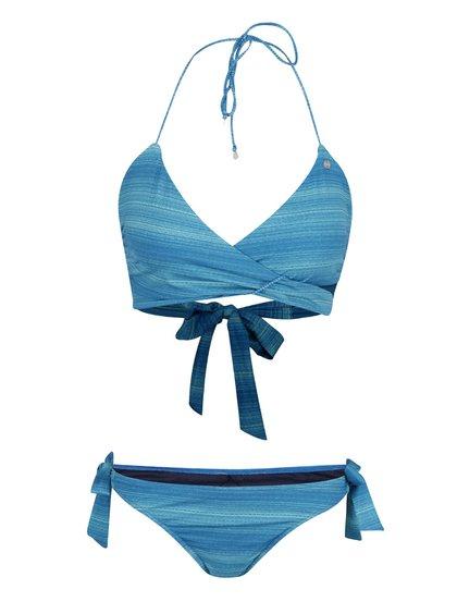 Modré dvoudílné žíhané plavky Bench