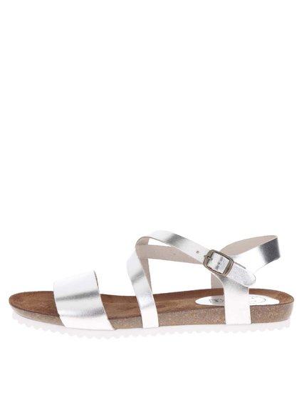 Sandale argintii OJJU din piele