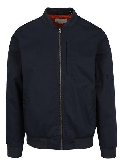 Jachetă bomber albastru închis Shine Original cu guler mao