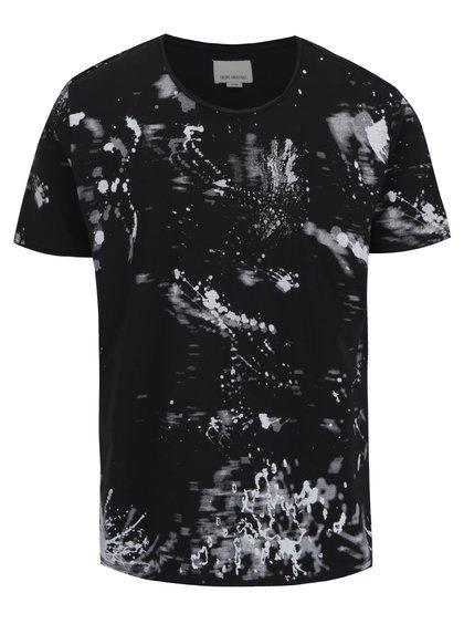 Tricou negru Shine Original cu imprimeu stilizat