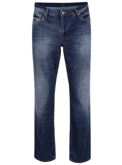 Blugi albaștri Cross Jeans Antonio cu aspect prespălat și croi drept