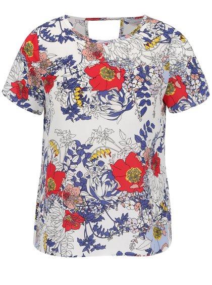 Tricou alb Dorothy Perkins cu imprimeu floral