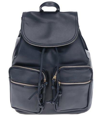 Tmavě modrý dámský batoh s detaily ve zlaté barvě ZOOT