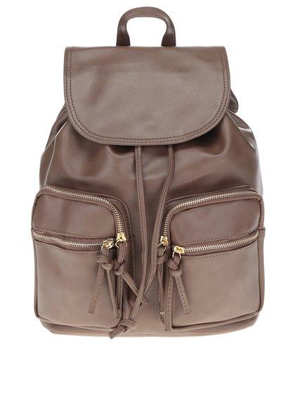 Hnědý dámský batoh s detaily ve zlaté barvě ZOOT