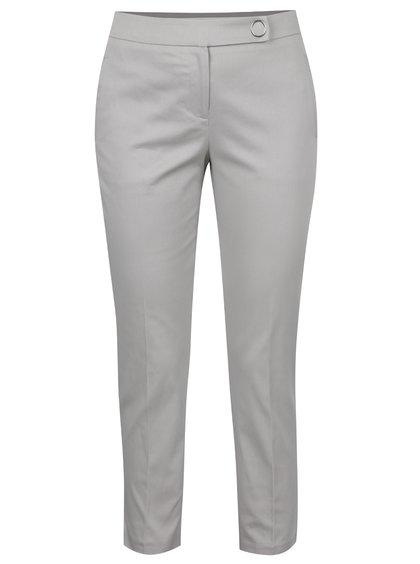 Šedé zkrácené kalhoty Dorothy Perkins